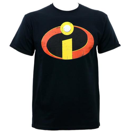 Disney The Incredibles Distressed Logo T-Shirt Black