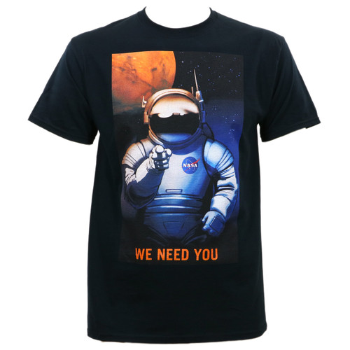 Nasa Mars Needs You T-Shirt Black