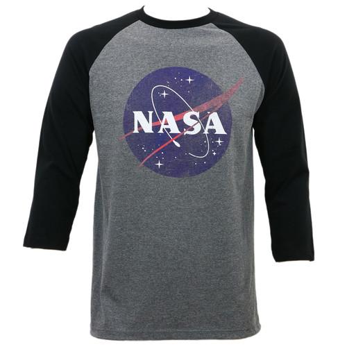 Nasa Distressed Logo Raglan T-Shirt