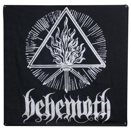 Behemoth White Black Sigil Fabric Poster