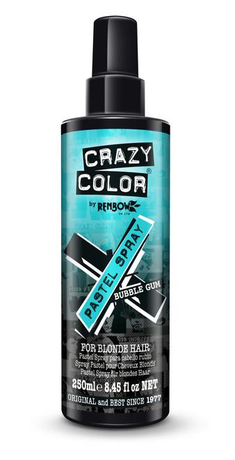 Crazy Color Pastel Hair Color Spray Bubblegum Blue 250 ml / 8.45 fl oz