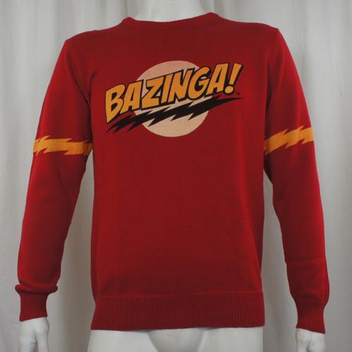 Big Bang Theory Knit Sweater - Bazinga no Face