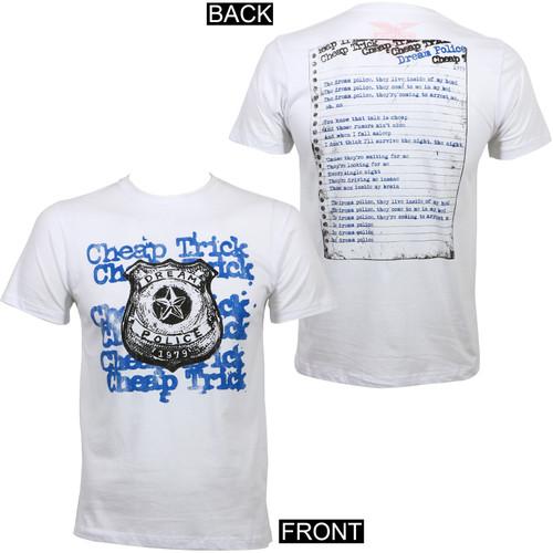 Cheap Trick Dream Police Slim Fit T-Shirt White