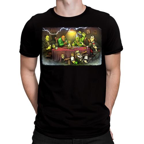 Get Down Art Big Chris Monsters Playing Poker T-Shirt