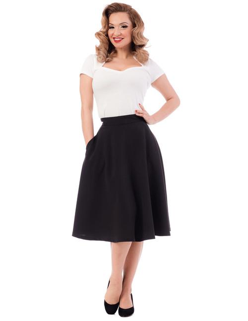 Steady Clothing Women's Pocket Thrills High Waisted Skirt Black