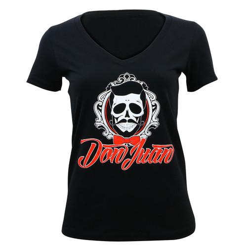 Don Juan Logo Junior's V-Neck T-Shirt