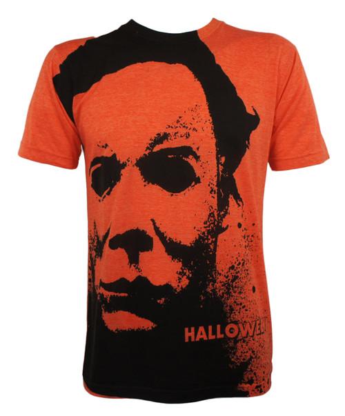 Halloween T-Shirt - Michael Myers Face Splatter Allover