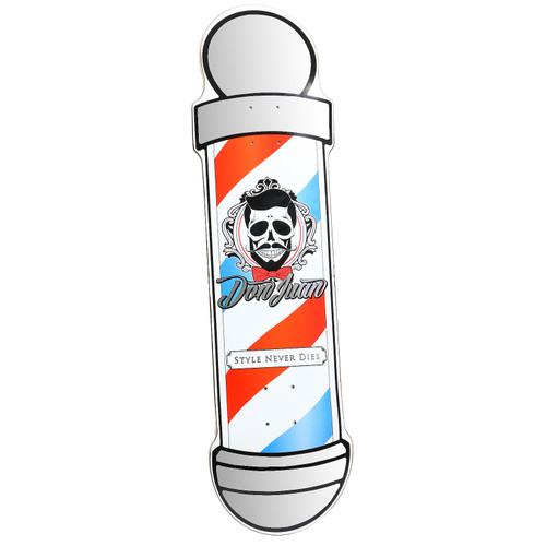 Don Juan Custom Cut Barber Pole Skateboard Deck