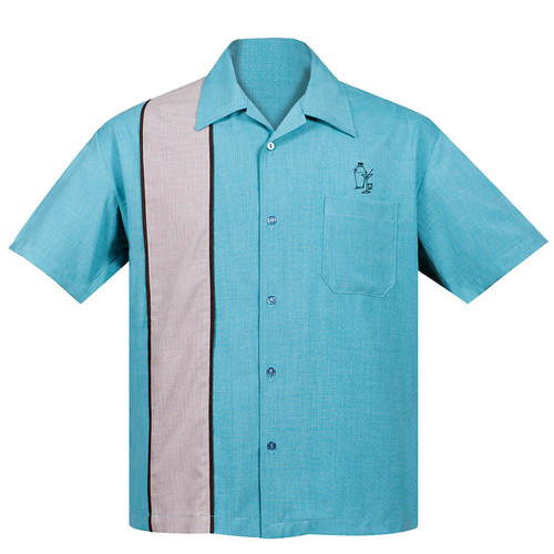 Steady Clothing Palm Springs Cocktail Button Up Bowling Shirt