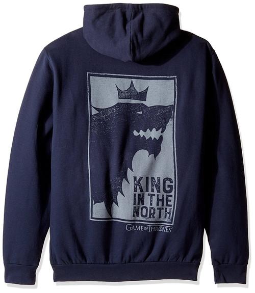 Game Of Thrones King In The North Zip-Up Hoodie Navy