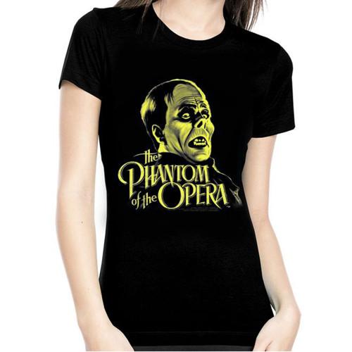 Universal Phantom of The Opera Glow in The Dark Juniors T-Shirt