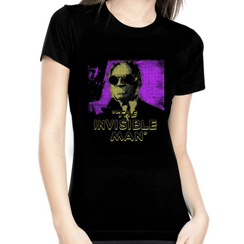 Universal The Invisible Man Glow in The Dark Juniors T-Shirt