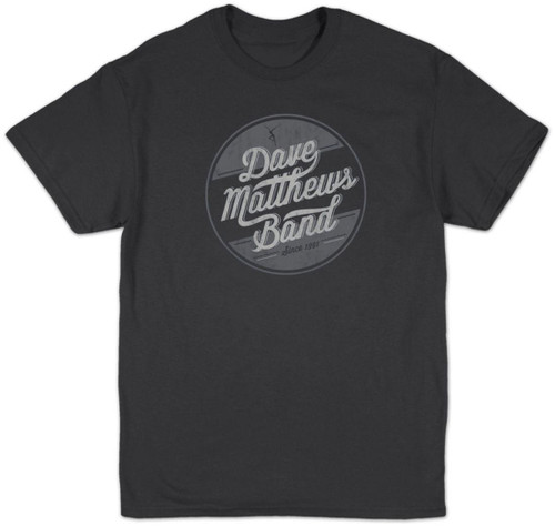 Dave Matthew Band Circle Logo Slim-Fit T-Shirt Charcoal