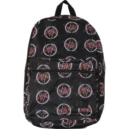 Slayer Allover Pentagram Logo Sublimated Laptop Backpack