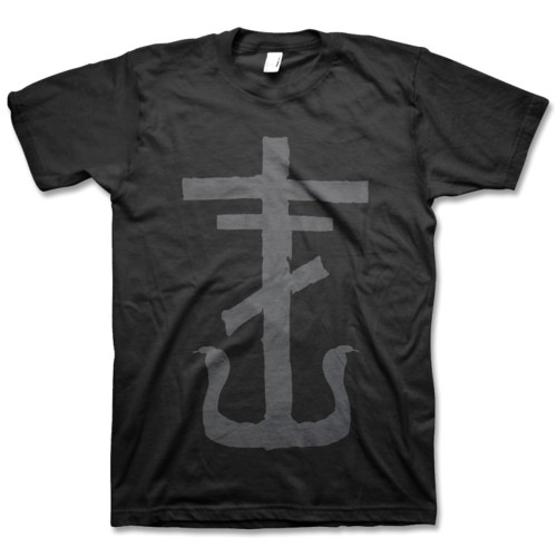 Frank Iero Gray Cross Slim-Fit T-Shirt