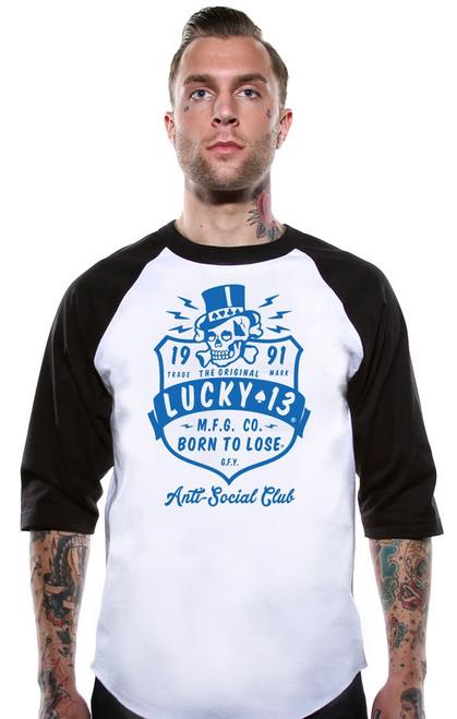 Lucky 13 Anti Social Club Raglan T-Shirt