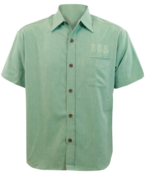 Steady Clothing Pineapple Mixer Button Up Bowling Shirt Mint
