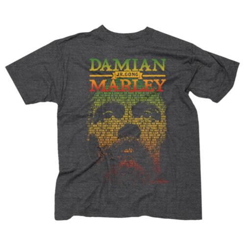 Damian Marley Lyric Face Slim Fit T-Shirt