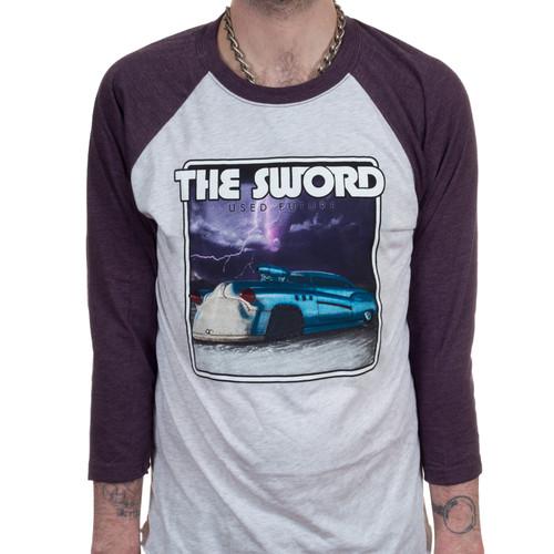 The Sword Used Future Raglan T-Shirt Vintage Purple