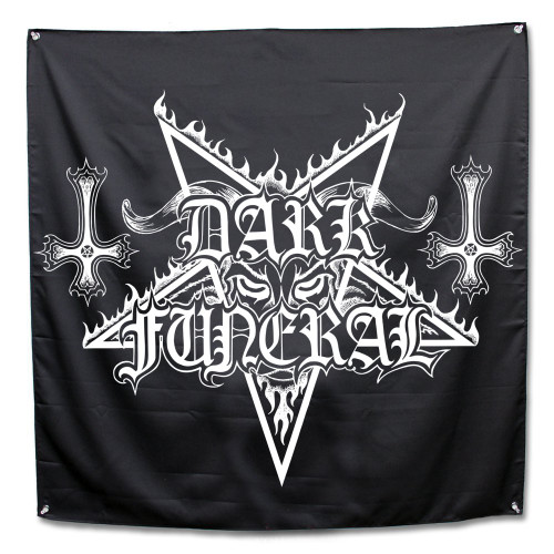 Dark Funeral Logo Fabric Poster Flag