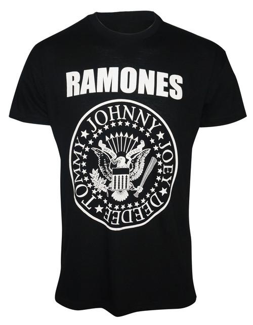 The Ramones Seal Logo Slim Fit T-Shirt