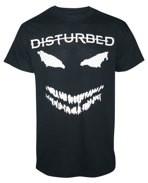 Disturbed White Scary Face T-Shirt