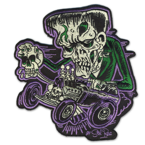 Retro A Go Go Monster Rod Embroidered Patch