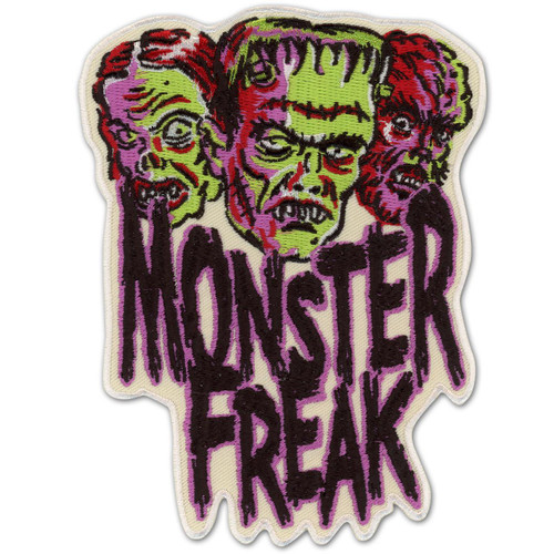 Retro A Go Go Monster Freak Embroidered Patch