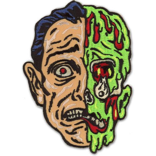 Retro A Go Go Melted Man Embroidered Patch