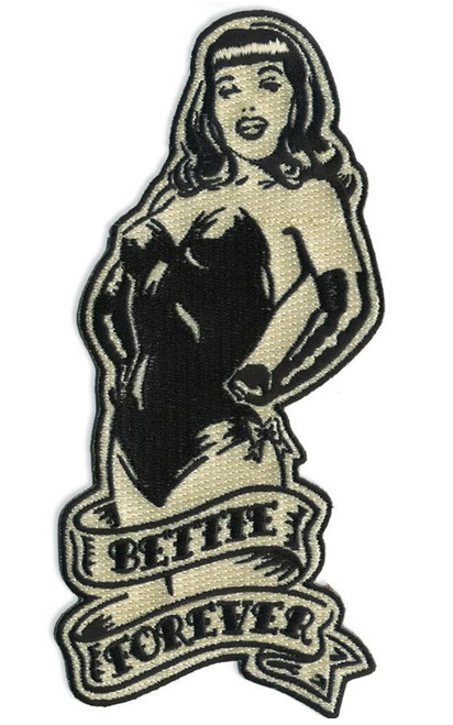 Bettie Page Bettie Forever Embroidered Patch