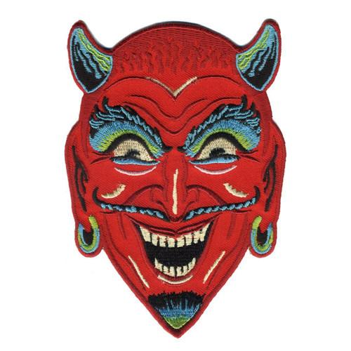 Retro A Go Go Fun-House Devil Embroidered Patch