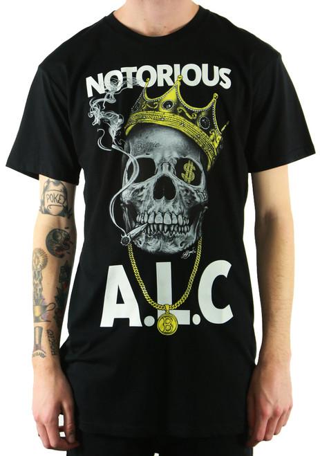 ALC Apparel Notorious Slim-Fit T-Shirt Black