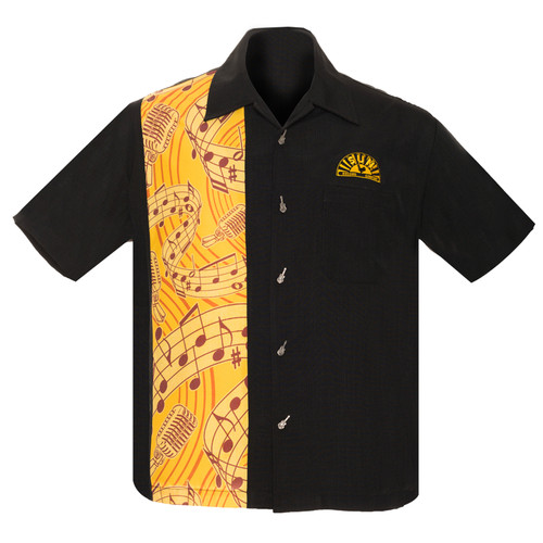 Steady Clothing Sun Records Music Note Bowling Shirt
