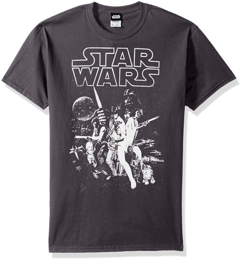 Star Wars Classic Poster T-Shirt Charcoal