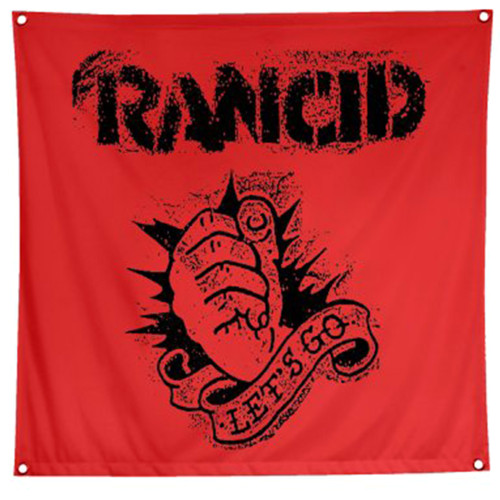 Rancid Let's Go Fabric Poster Flag Red