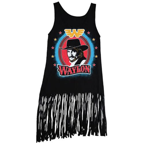 Waylon Jennings Junior's Bullseye Fringe Tank Top