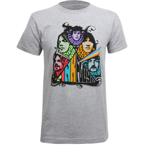Pink Floyd Prism Illustration Slim Fit T-Shirt Heather Grey