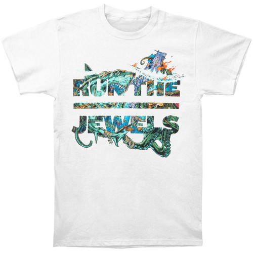 Run The Jewels White Shark Slim-Fit T-Shirt White