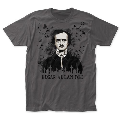 Edgar Allan Poe Ravens Slim-Fit T-Shirt Charcoal