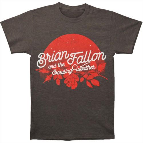 Brian Fallon Moonflower Slim-Fit T-Shirt Charcoal Heather