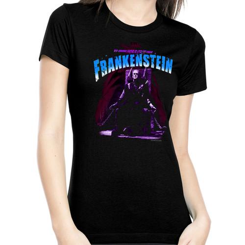 Universal Blue Electric Chair Frankenstein Juniors T-Shirt