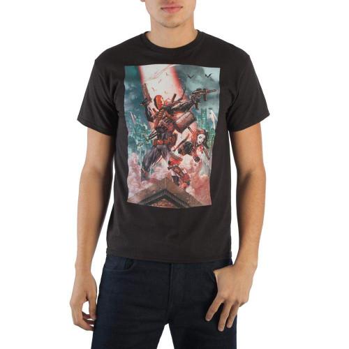 DC Comics Deathstroke and Harley Quinn Slim-Fit T-Shirt Black