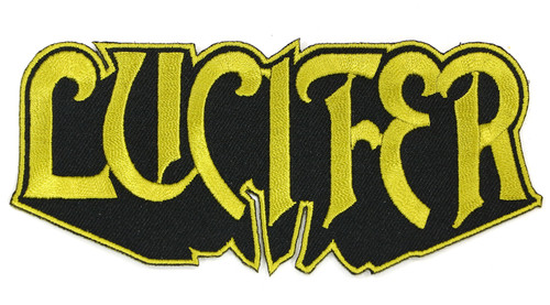 """Lucifer Logo Embroidered Patch 5"""" x 2"""""""