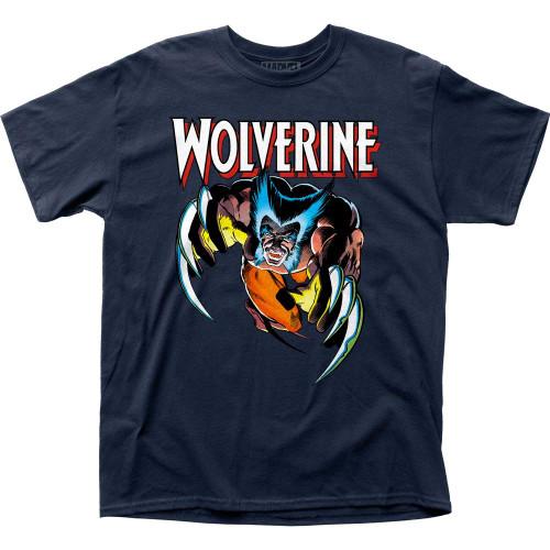 Marvel Wolverine Attack T-Shirt Navy
