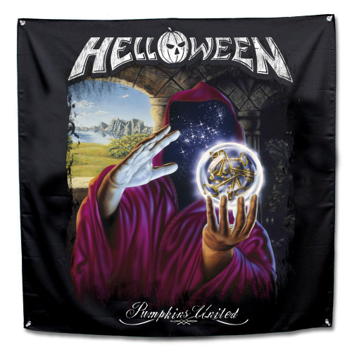 """Helloween Keepers Legend Fabric Poster Flag 48"""" x 48"""""""