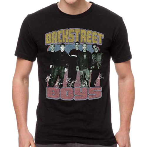 Backstreet Boys Vintage Destroyed Slim-Fit T-Shirt