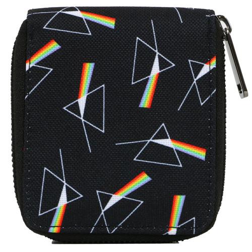 Pink Floyd Dark Side Repeat Bi-Fold Zip Wallet
