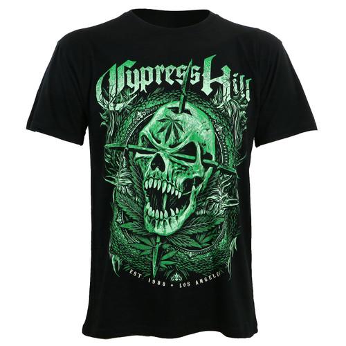Cypress Hill 2018 Green Skull Slim-Fit T-Shirt