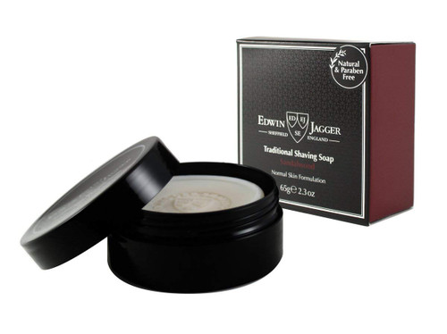 Edwin Jagger Sandalwood Traditional Shave Soap In Travel Container 2.3oz