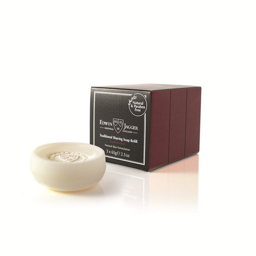 Edwin Jagger Sandalwood Shave Soap Refill 2.3oz Pack of 3